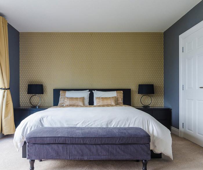 как скомбинировать обои и покраску в одной комнате