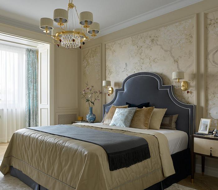 сочетание обоев и краски в одной комнате