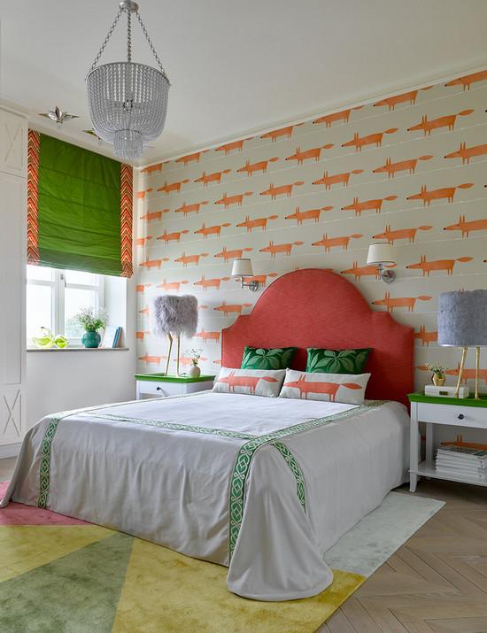 обои и покраска стен в одной комнате